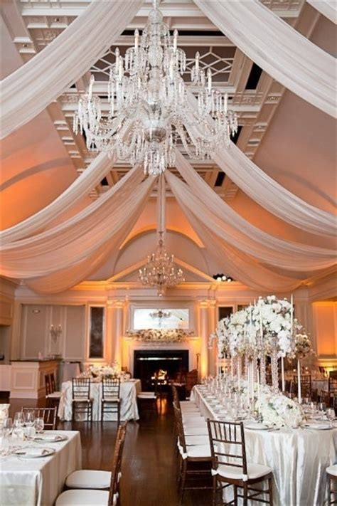 We love the simple elegance of this wedding reception room
