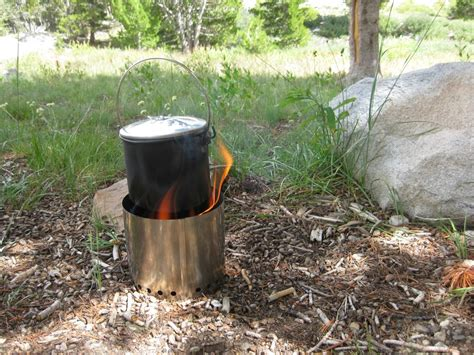 four stove woodsmoke in the wilds the bushcooker lt iii titanium stove outdoor readiness