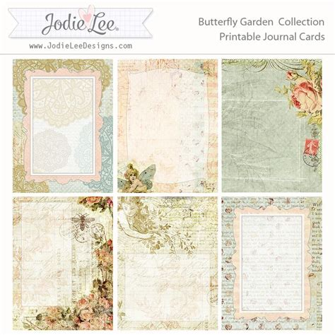 Printable Papers For Card - free butterfly garden printable pocket journal cards