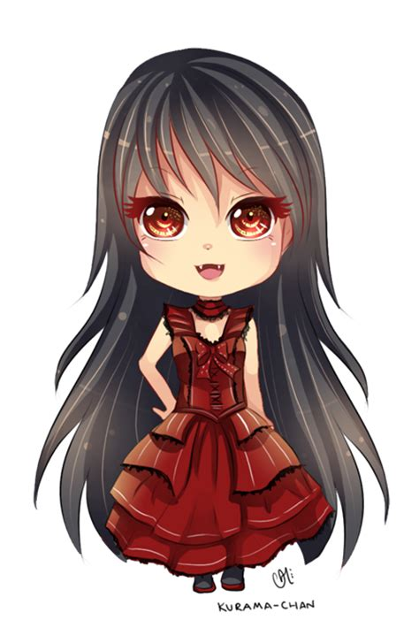 cute anime chibi girl with red hair chibi commission for mysteryxgirl by kurama chan on