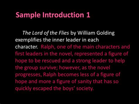 Lord Of The Flies Leadership Essay by Lord Of The Flies Essay Tips And Exles Ppt