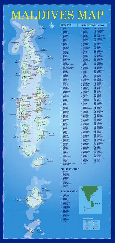 resorts map  maldives maldives asia mapsland