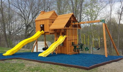 rubber mat under swing set 17 best images about rubber playground mulch on pinterest