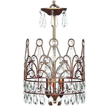 uncategorized the enchanting crystal crown chandelier in gold crown 3 light chandelier t2099 www lsplus com