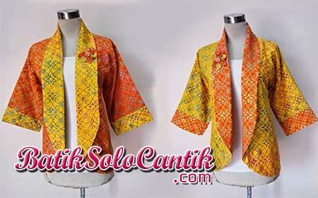 Bolero Bolak Balik Batik Blezer Batik Modern Atasan Batik Wanita Rompi 1 model baju batik wanita modern untuk kerja baju kerja batik