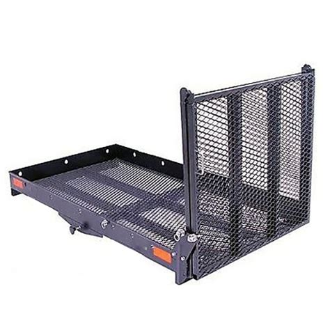 Tent Platform xl wheelchair scooter carrier with loading ramp hitch