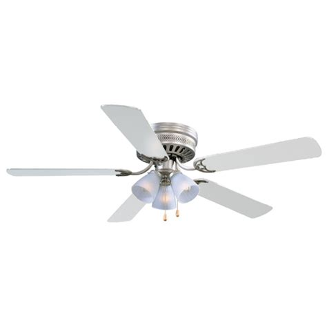 design house millbridge lighting design house millbridge hugger satin nickel ceiling fan w
