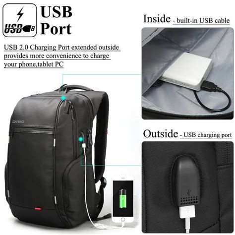 Mairu 0219 Smart Backpack Usb Port Charger Free Powerbank Grey Dtbg D8195w 17 3 Inch Laptop Storage Backpack W Usb 2 0
