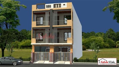 Small Double Wide Floor Plans by Triple And Multi Storey Elevation 3d Triplex House