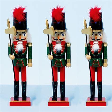 38cm xmas christmas traditional style nutcracker wooden