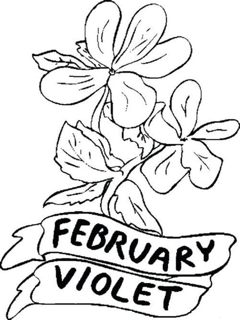 flowers of the month coloring pages 20 free printable february coloring pages