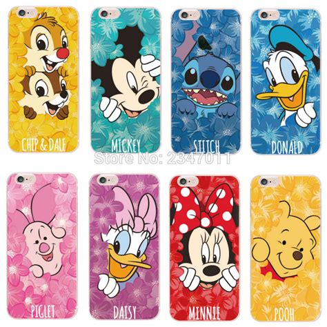 Disney Big Donald Softcase For Iphone 55s66s66s aliexpress buy minnie mickey donald duck stitch pooh characters phone
