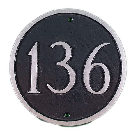 large house numbers personalized large circle house number sign