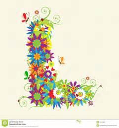 l designer letter l floral design royalty free stock photos image