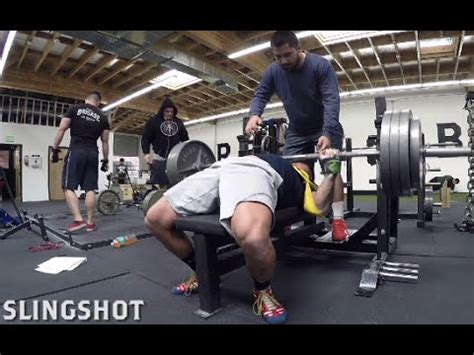 bench pr 365x3 bench pr with sling shot youtube