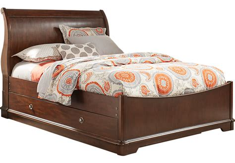 twin sleigh bed oberon cherry 4 pc twin sleigh bed with trundle trundle
