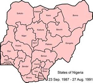 Map Of Nigeria States by File Nigeria States 1987 1991 Png Wikimedia Commons