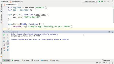 docker quick tutorial quick tour of webstorm and docker webstorm blog
