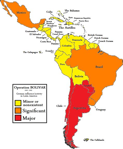 latin america map with capitals