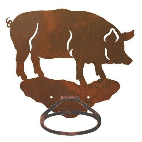 pig bathroom accessories pig metal bath towel ring towel holder