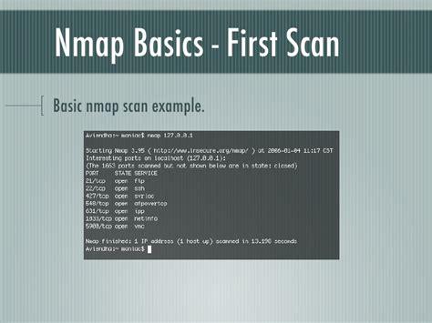 nmap scanner nmap basics