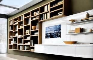 biblioth 232 que moderne en bois et meuble t 233 l 233 laqu 233 blanc