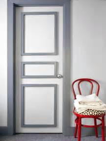 bold bathroom door update hgtv