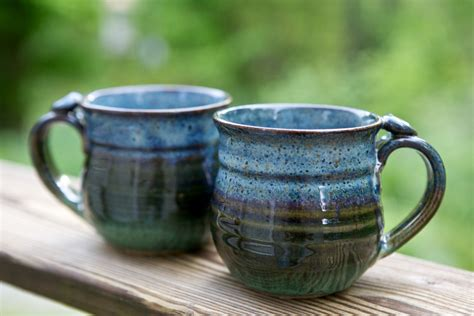 Handmade Coffee Cups - handmade mugs when i was at local roots in wooster oh i