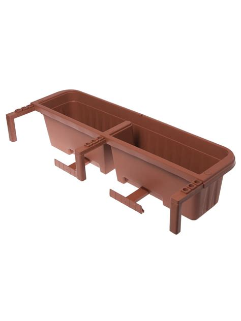 self watering railing planter railing planters 36 quot accommodate 1 quot to 4 25 quot thick deck railings