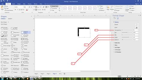 visio shadow cara membuat dfd data flow diagram pada microsoft