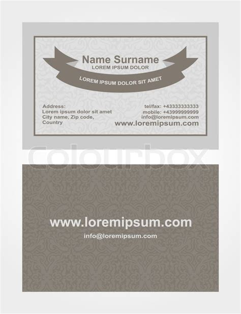 empty business card template fron and back business card creative design style print front