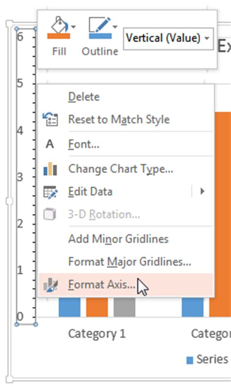 format axis scale excel 2007 change the scale of the vertical value axis in a chart