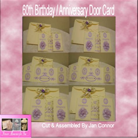 template for 60th birthday card craft robo gsd file template 60th birthday anniversary