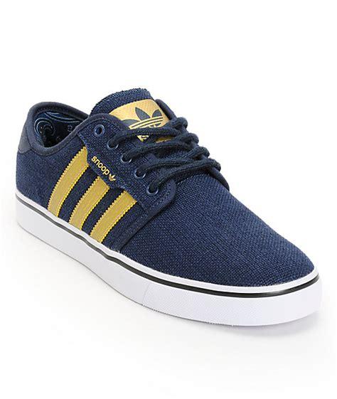 Adidas Seely Navy adidas x snoop seeley navy gold paisley hemp shoes