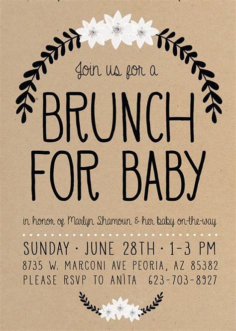 Baby Shower Brunch Invitation Wording 25 best ideas about baby shower brunch on