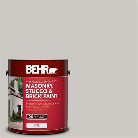behr premium 1 gal ms 79 silver gray pebble flat interior exterior masonry stucco and brick