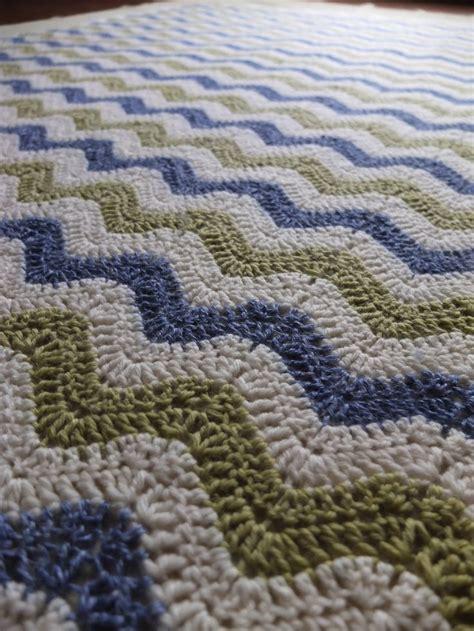 wave afghan in green and purple crochet throw blanket rivers mountains soft merino wool silk linen alpaca