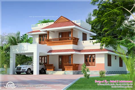 beautiful kerala home in 1800 sq house design plans