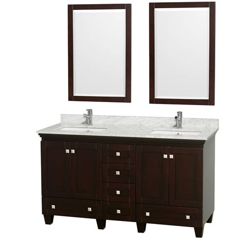 60 Inch White Bathroom Vanity Wyndham Collection Wcv800060descmunsm24 Acclaim 60 Inch Bathroom Vanity In Espresso