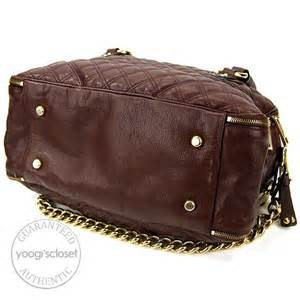 Marc Quilted Leather Bowler marc brown quilted leather bowler bag yoogi s closet