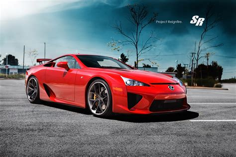 lfa lexus red lexus lfa on pur wheels autoevolution