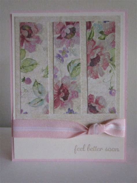 Handmade Get Well Cards - get well card flower handmade sted feel better