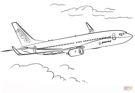 737 Coloring Page boeing 737 coloring page free printable coloring pages