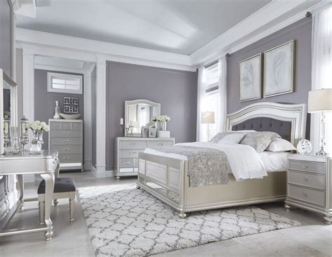 Coralayne Silver Bedroom Set by Coralayne Silver Bedroom Set From B650 157 54 96