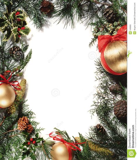 christmas decoration frame royalty free stock image
