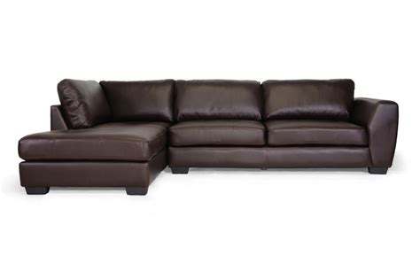baxton studio orland brown leather modern sectional sofa baxton studio orland brown leather modern sectional sofa