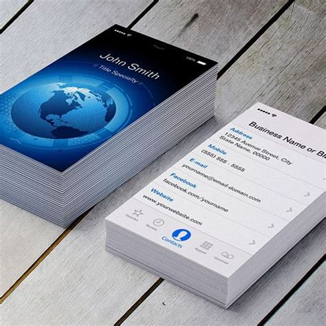iphone 7 business card template 15 best creative and stylish business cards images on