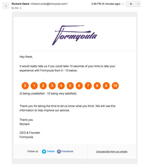 How We Run Nps Surveys With Formyoula Salesforce And Intercom Formyoula Intercom Email Templates