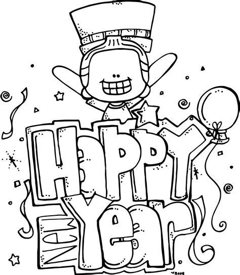 winter melon coloring page melonheadz happy new year freebie