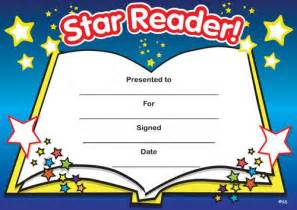 print accelerated reading certificate star reader my